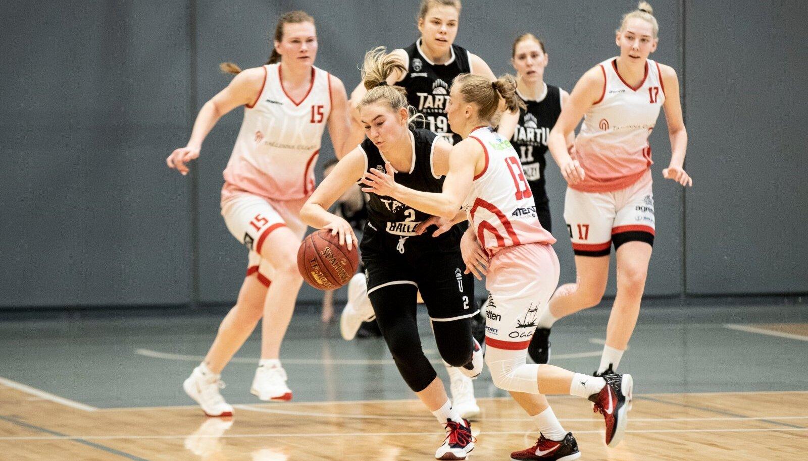Naiste korvpall, Tallinna Ülikool vs Tartu Ülikool