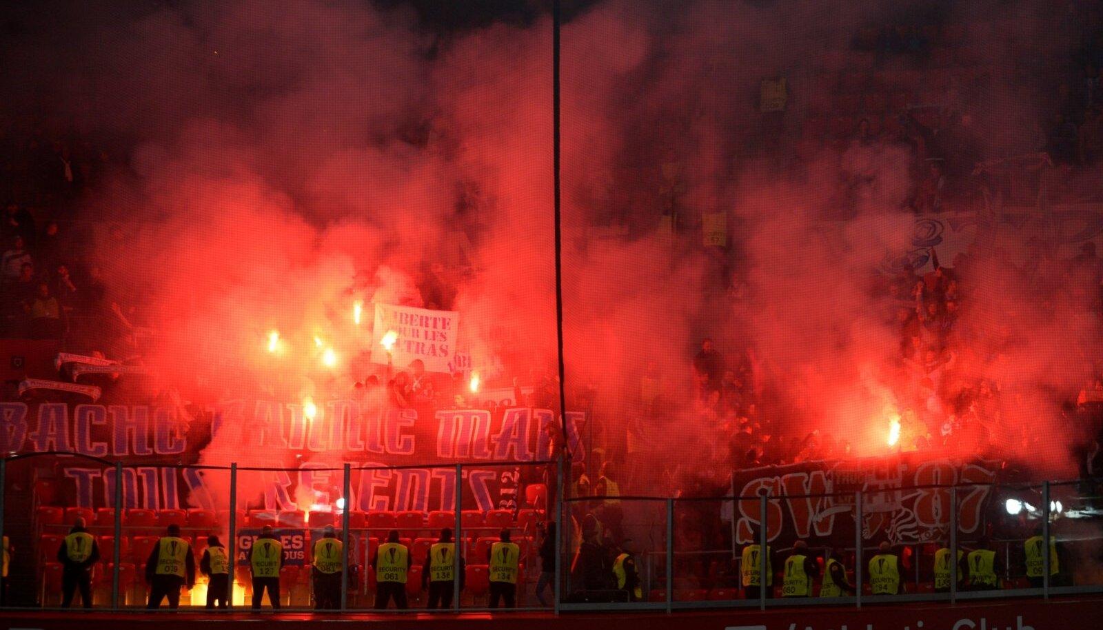 Marseille fännid Bilbaos.