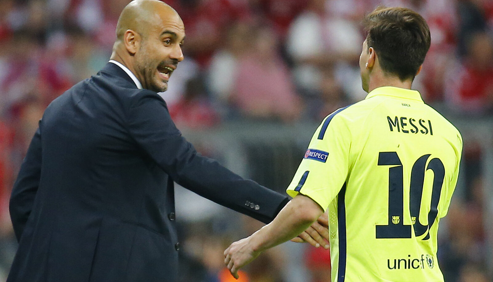 Pep Guardiola ja Lionel Messi