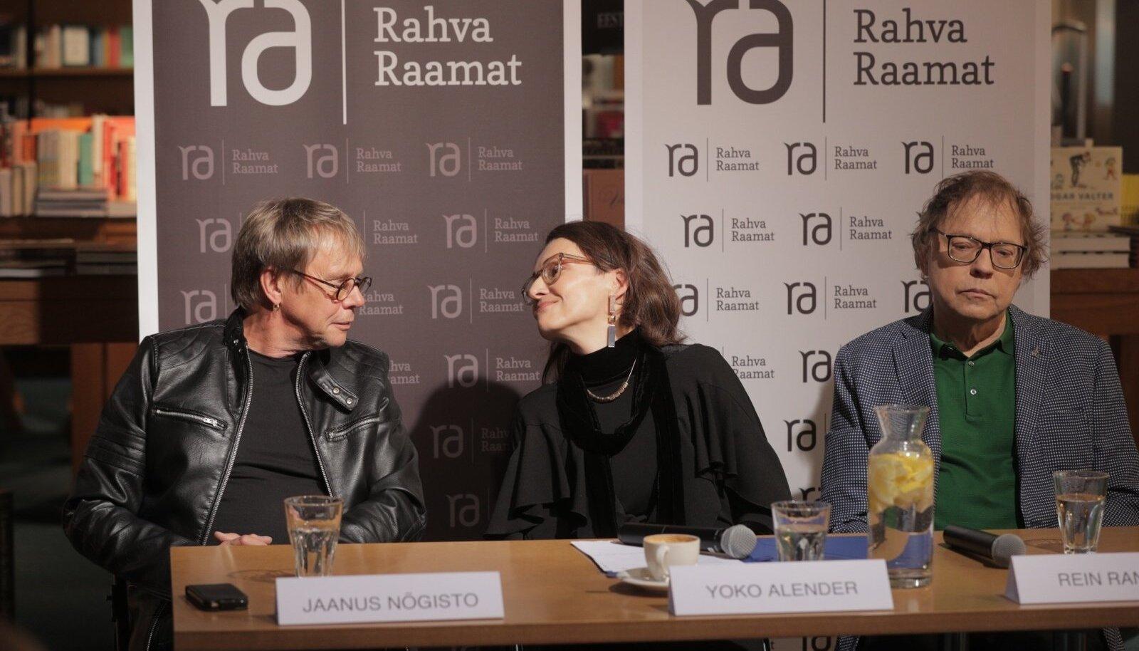 Legendaarse rokkgrupi Ruja alustalad Jaanus Nõgisto ja Rein Rannap, keskel Urmas Alenderi tütar Yoko Alender