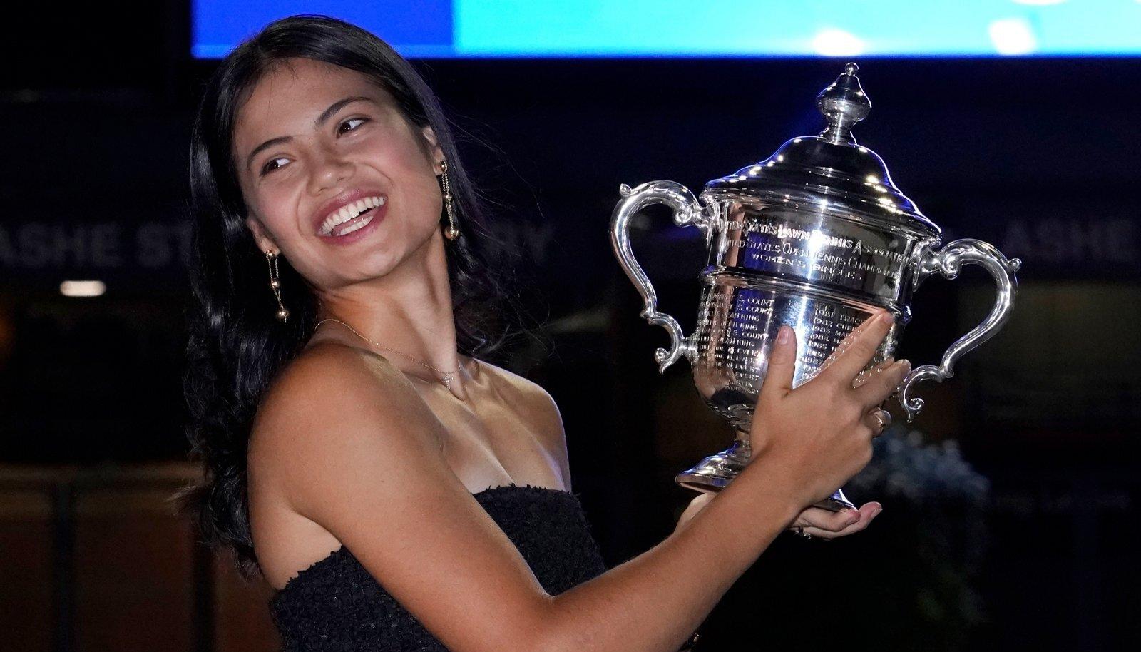 US Openi võitja Emma Raducanu.