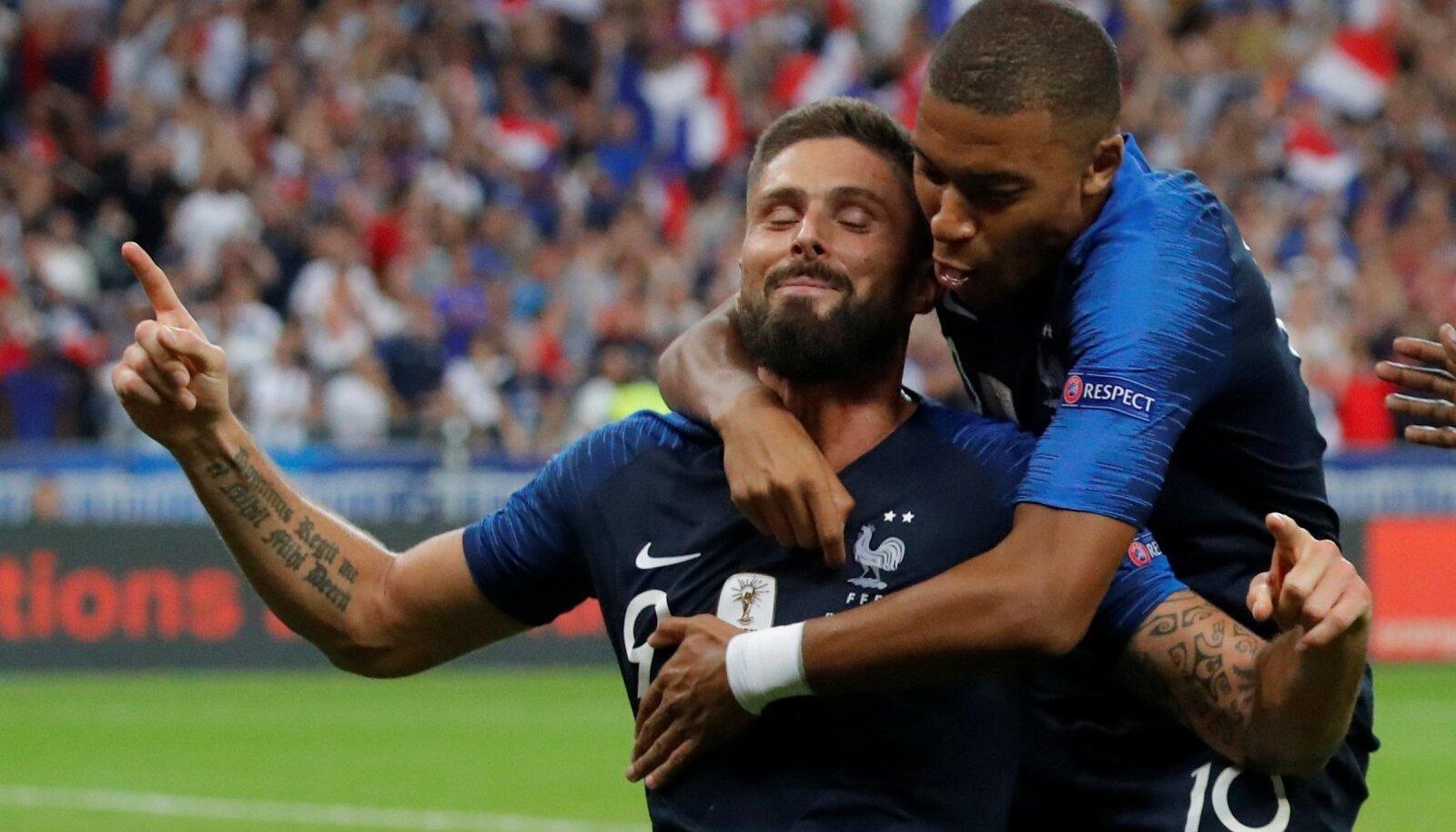 Olivier Giroud ja Kylian Mbappe on omavahel tülli pööranud.