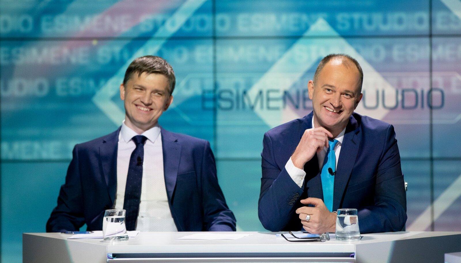 """Televaatajaile on Mirko Ojakivi ja Andres Kuusk silma jäänud eelkõige """"Esimese stuudio"""" saatejuhtidena. Lähinädalal juhivad nad aga ETV valimiseelseid väitlussaateid."""