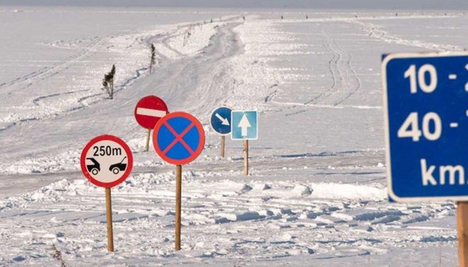 Heal külmal talvel avatakse Eestis kõik kuus jääteed.