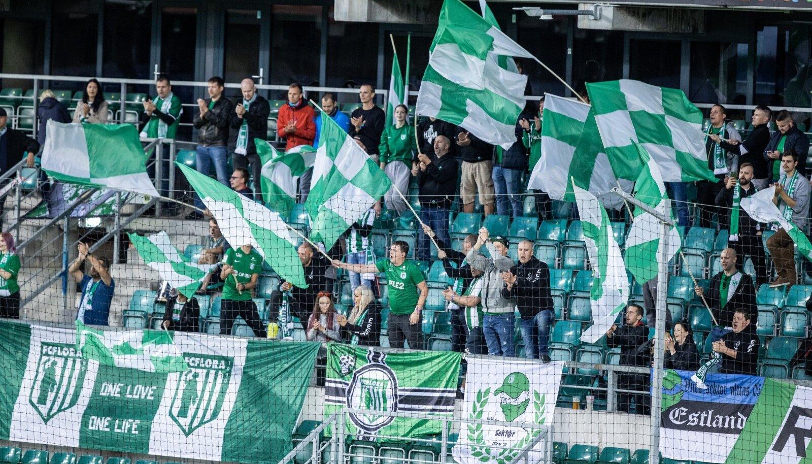 FC Flora fännid said omade võidu üle rõõmustada.
