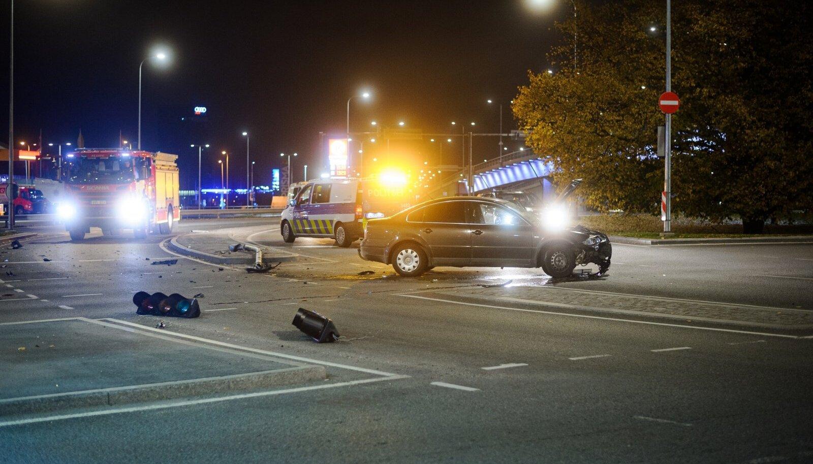 Liiklusõnnetus Haabersti ringil.