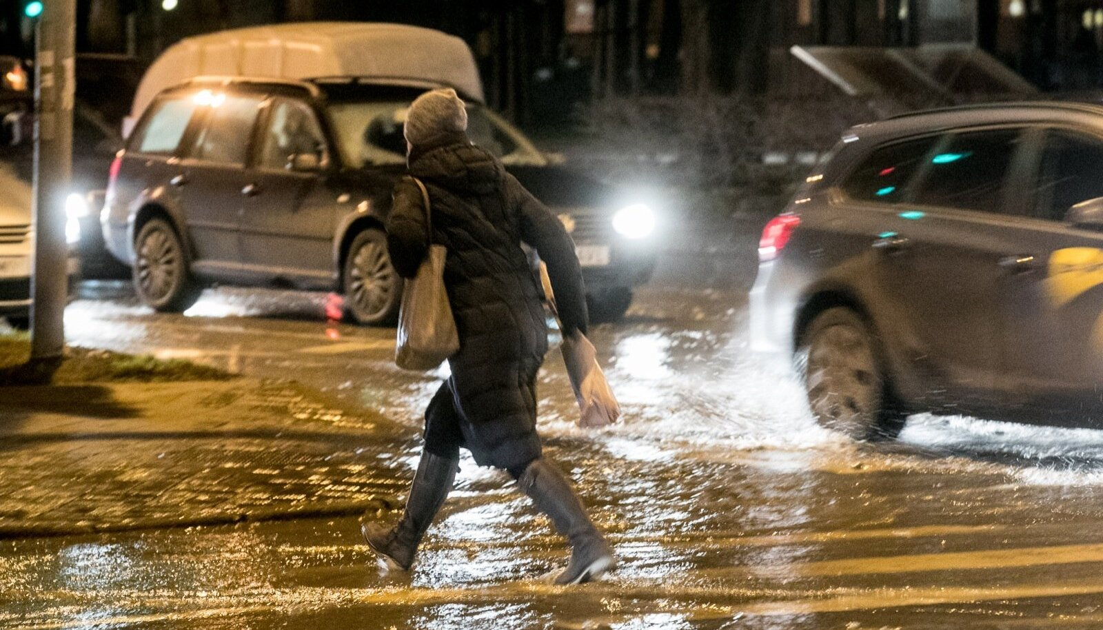 Veeavarii Pronksi tänaval Tallinnas