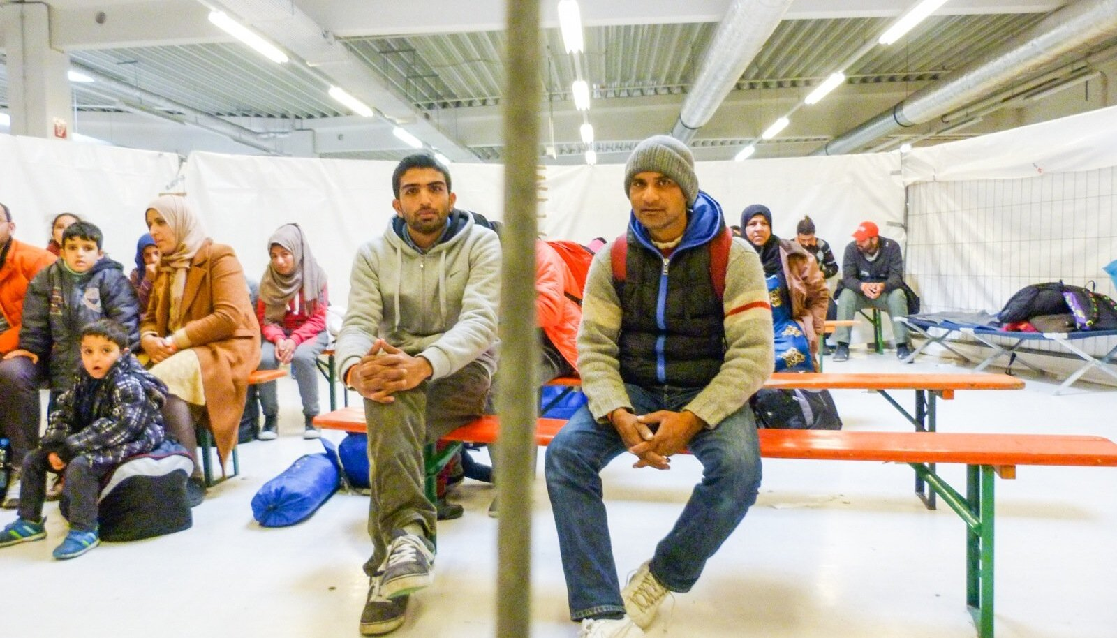 Põgenikud Saksa-Austra piiril