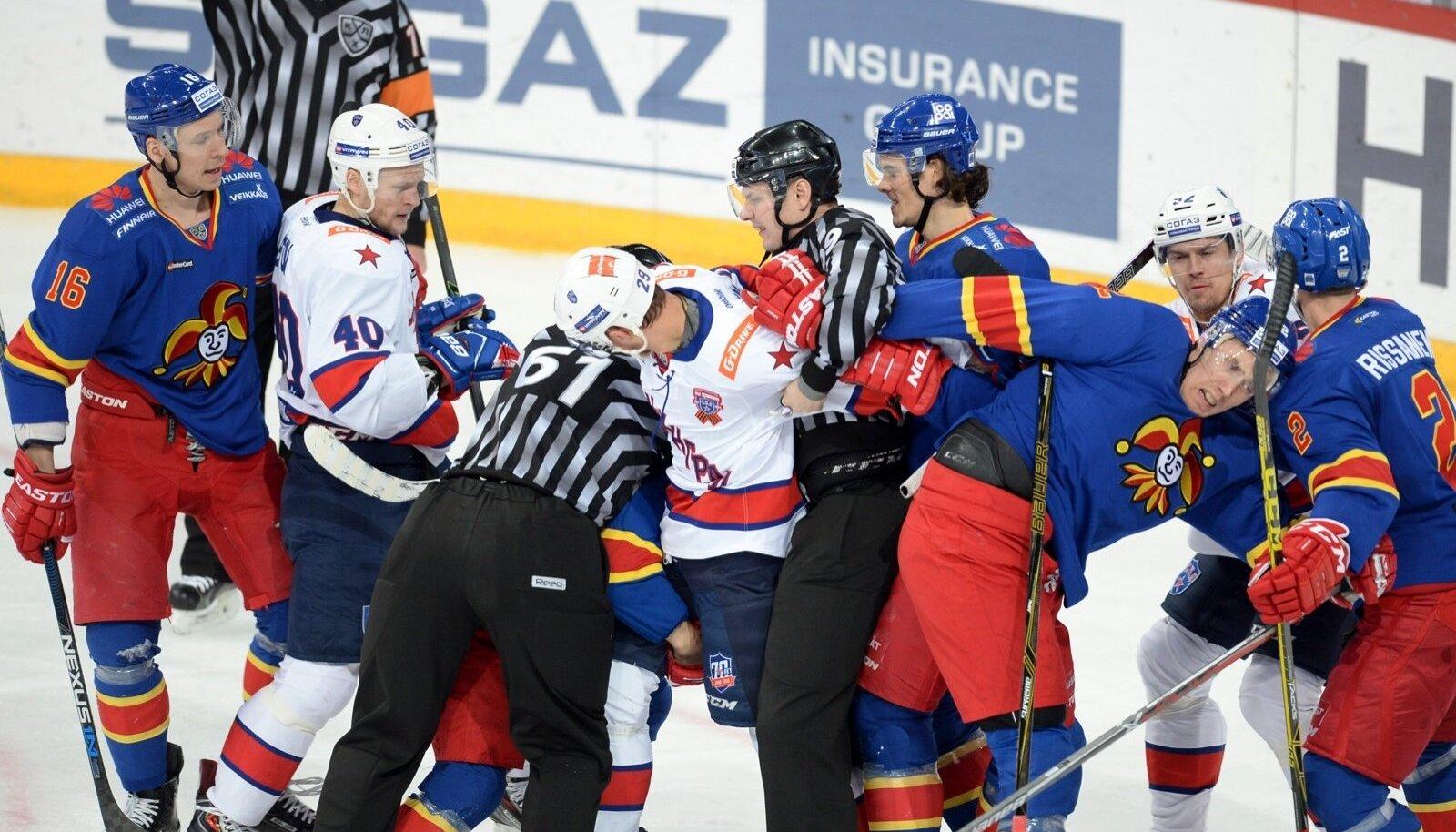 KHL Game between Jokerit and SKA