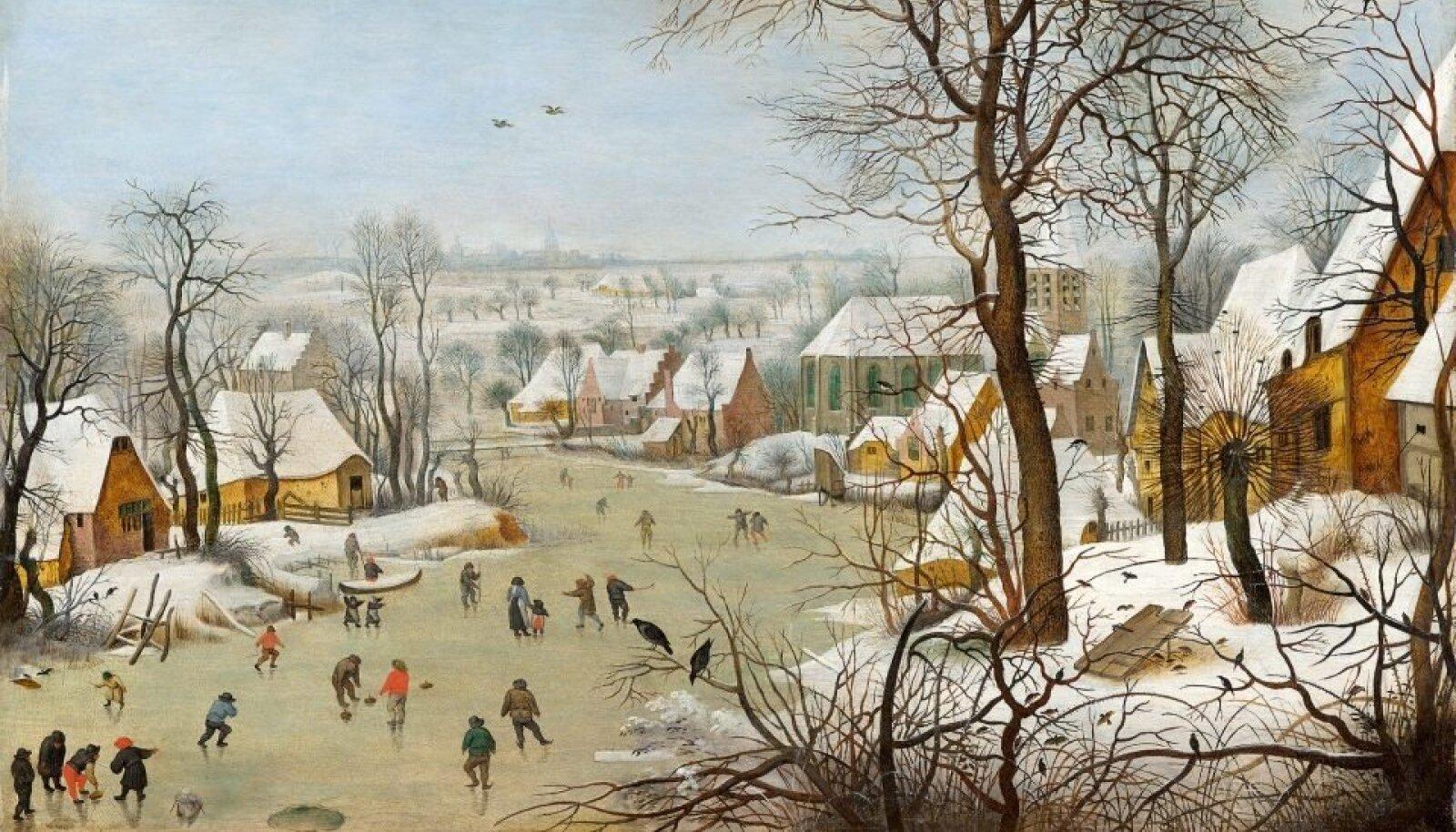 Mine tea, kuidas XVI saj elanud kunstnik Pieter Bruegel vanem Rakvere teatrimaja välisrõdult paistva XXI saj eesti väikelinna talve pildi sisse maalida oskas, aga nii see on.