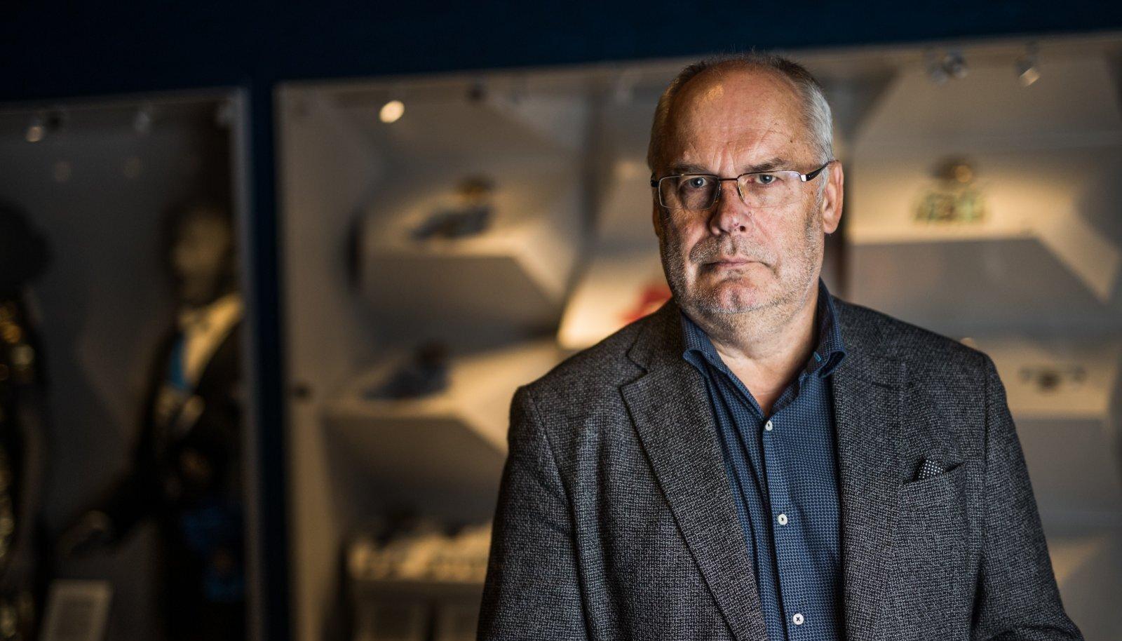 Võimalik presidendikandidaat Alar Karis oma praeguses töökohas Eesti Rahva Muuseumis Tartus.