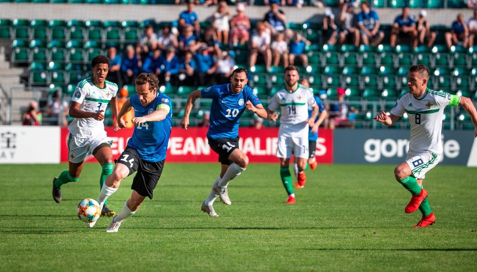 Eesti vs Põhja-Iirimaa 2019. aastal Tallinnas.