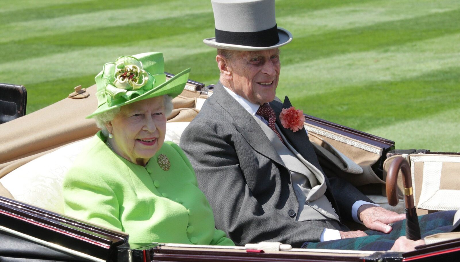 20.06.2017, Royal Ascot, Windsor, GBR, GROSSBRITANNIEN - Royal Procession. Queen Elizabeth the Second and Prince Philip