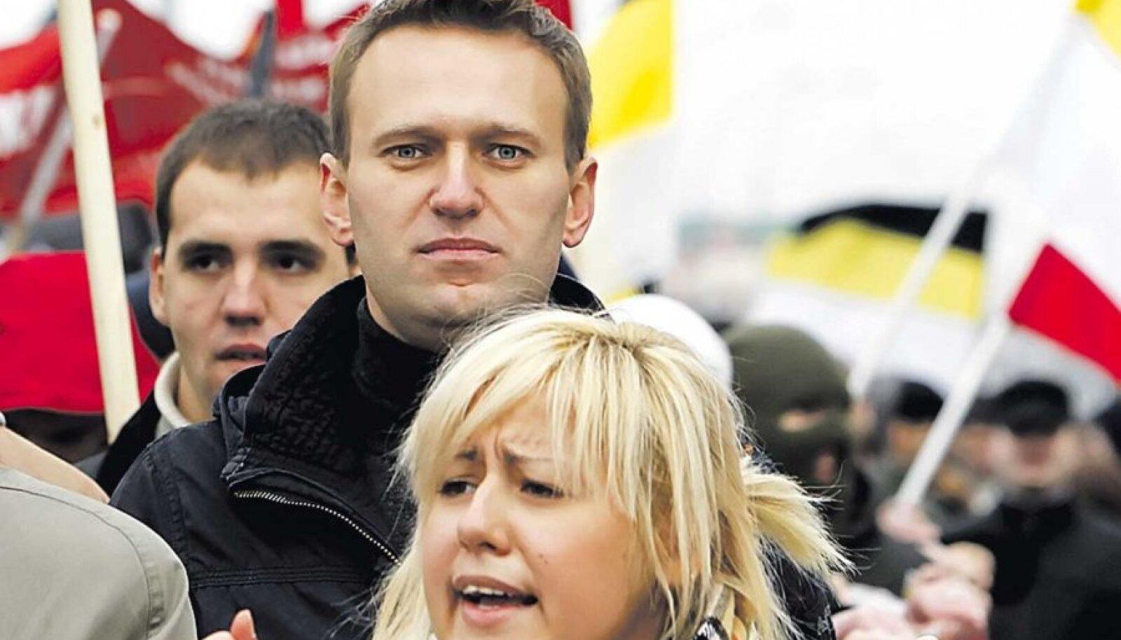 Aleksei Navalnõi tänavu novembris Moskvas Vene Marsil