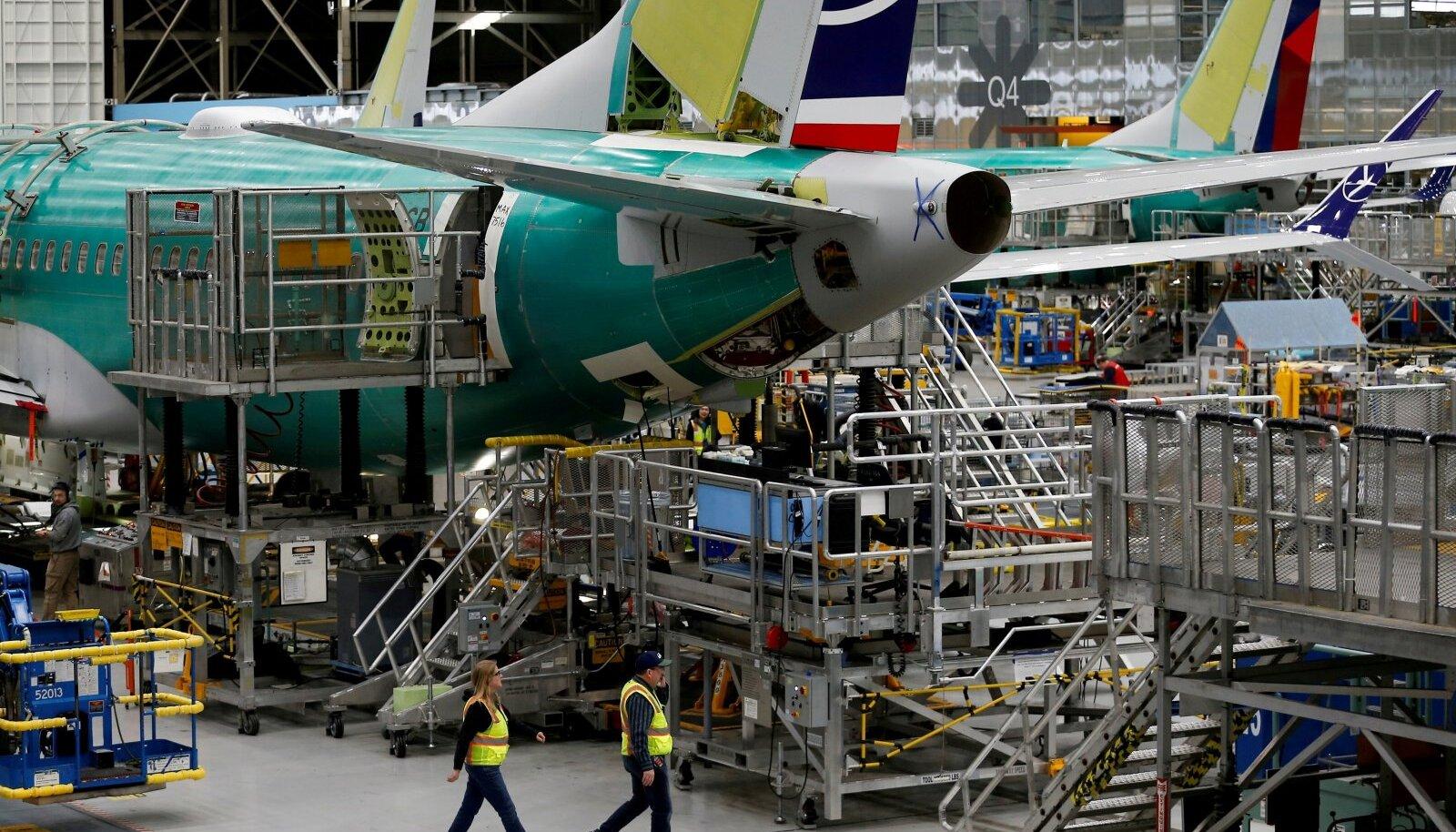 Boeing 737 MAX-i ehitus ettevõtte Rentoni tehases