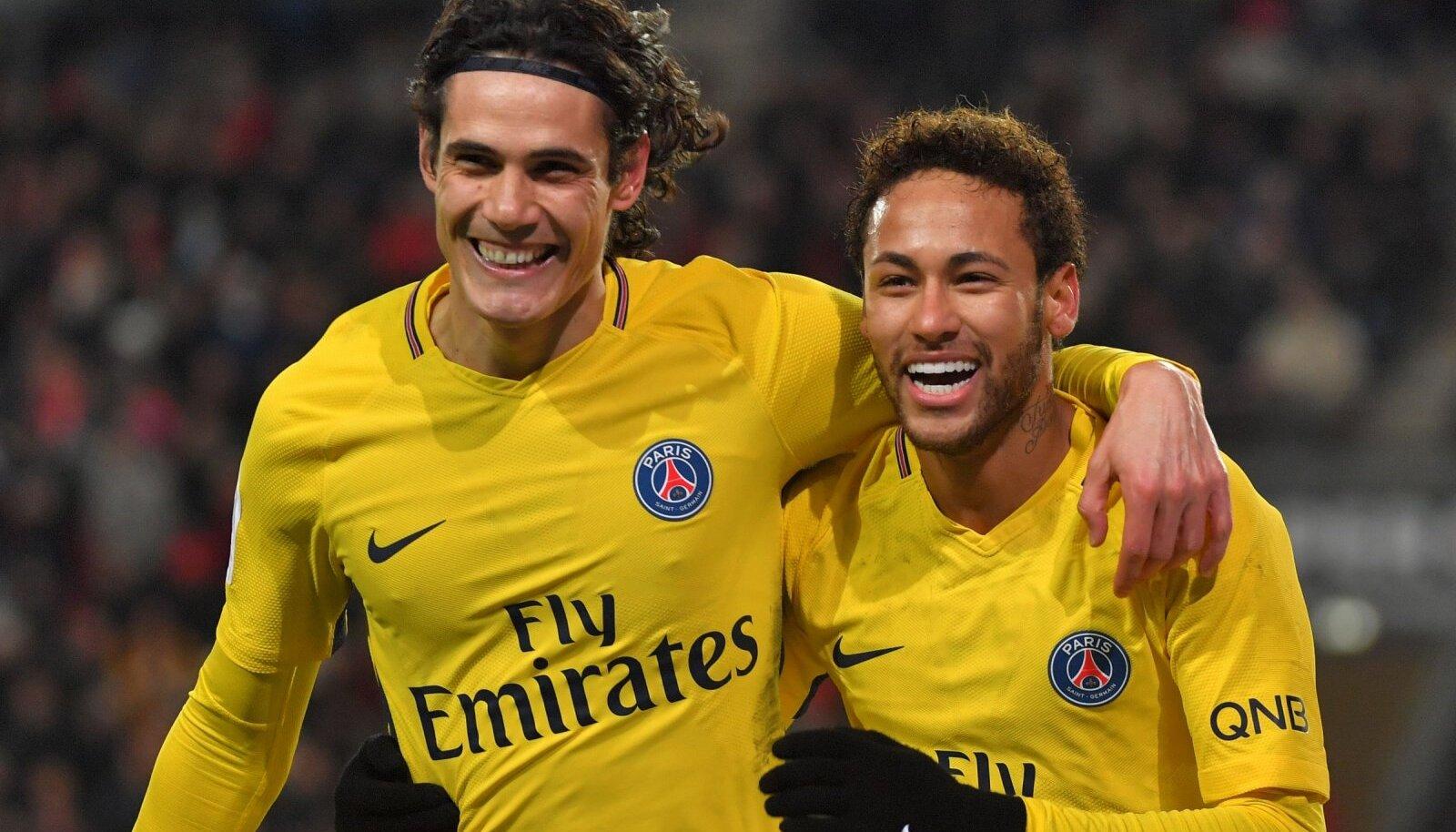 Edinson Cavani ja Neymar.