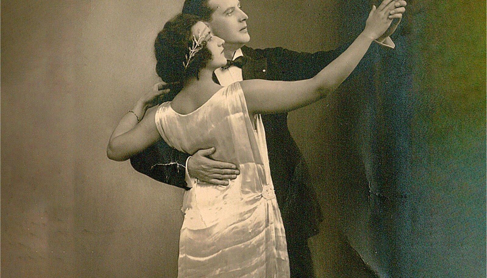 Tantsuõpetajad ning kohviku Marcelle rajajad Bernhard ja Rosalie Leer.