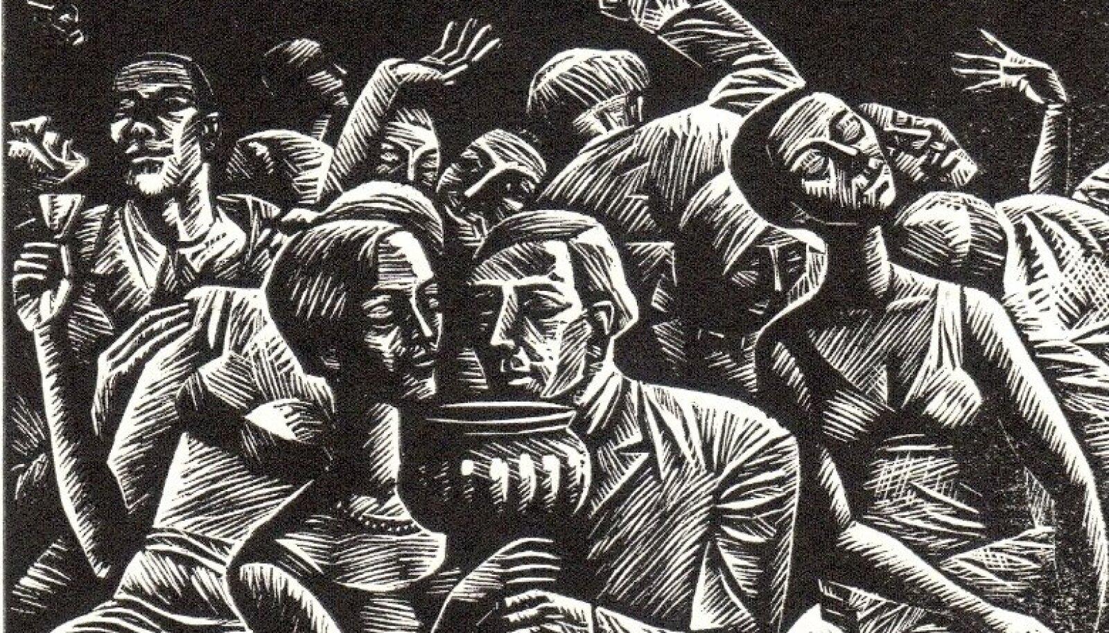"""Herald Eelma illustratsioon teosele """"Tõde ja õigus"""". (TALK ATM 175 ATMK 25); Tallinna Kirjanduskeskus"""