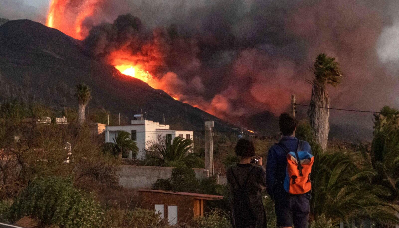 Cumbre Vieja vulkaan purskamas