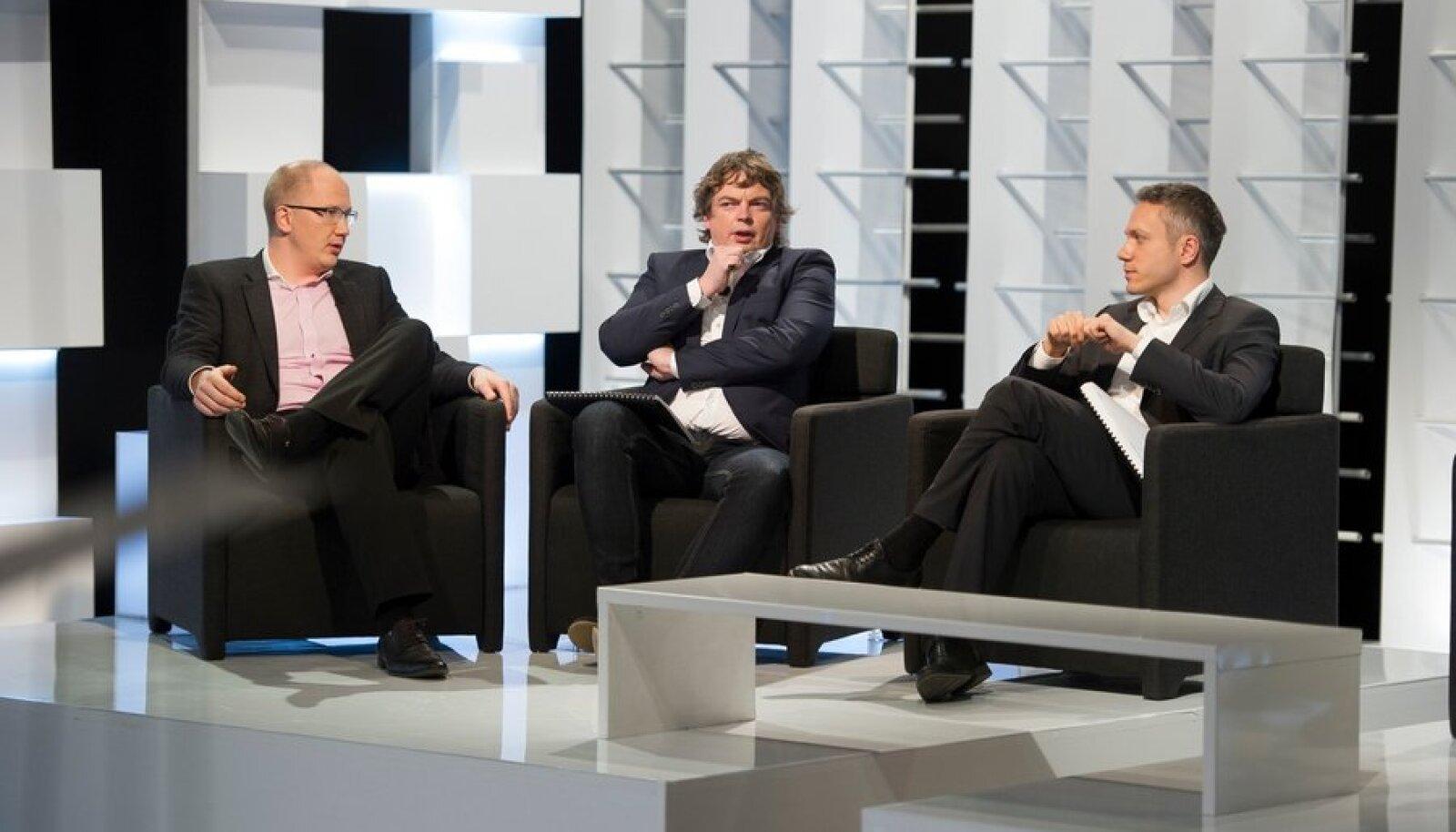 Osa Ajujahi žüriist: Priit Alamäe, Mart Maasik, Andrei Korobeinik
