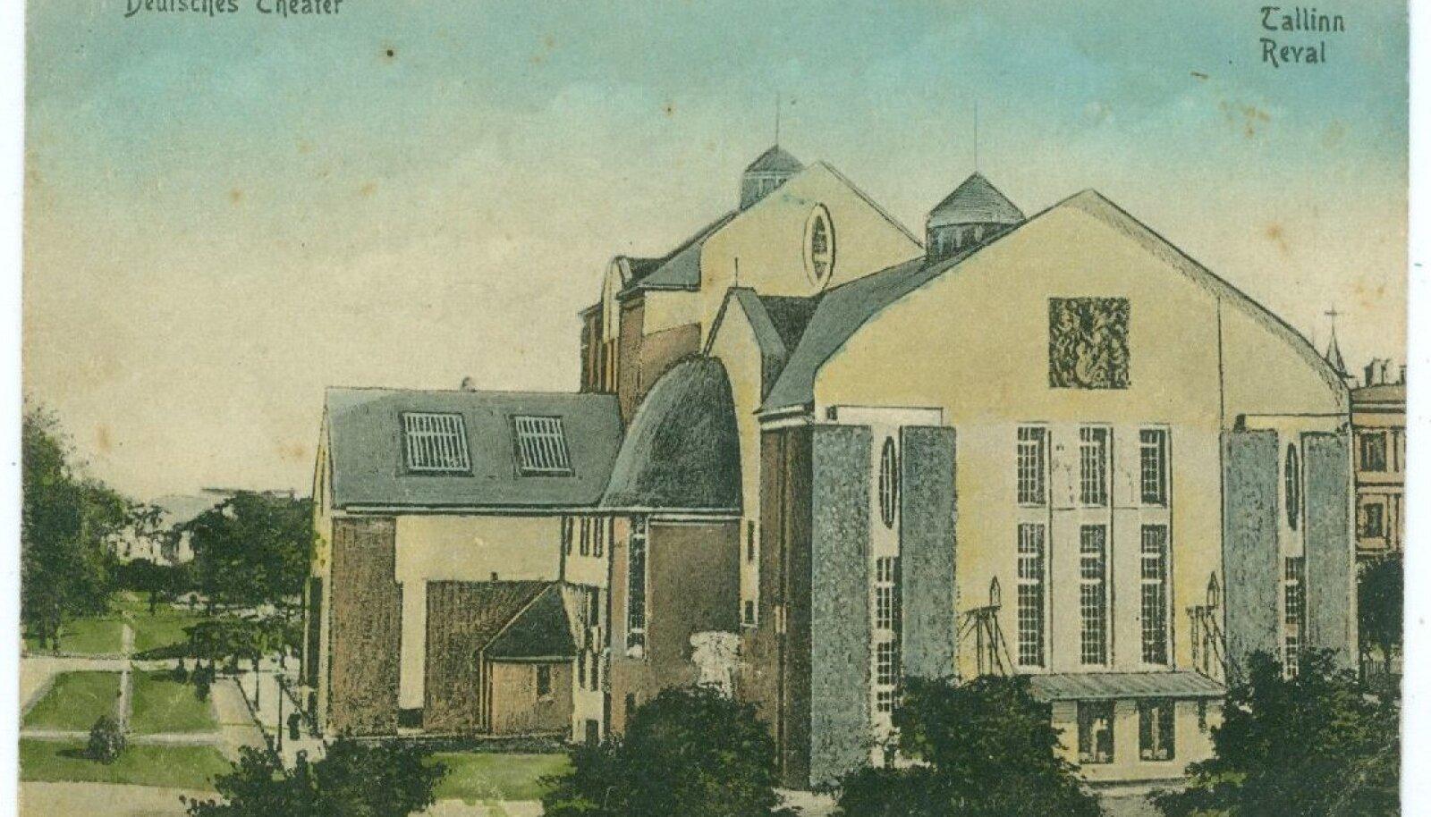 Vaade Saksa teatrile vahetult pärast avamist 1911. aasta paiku.