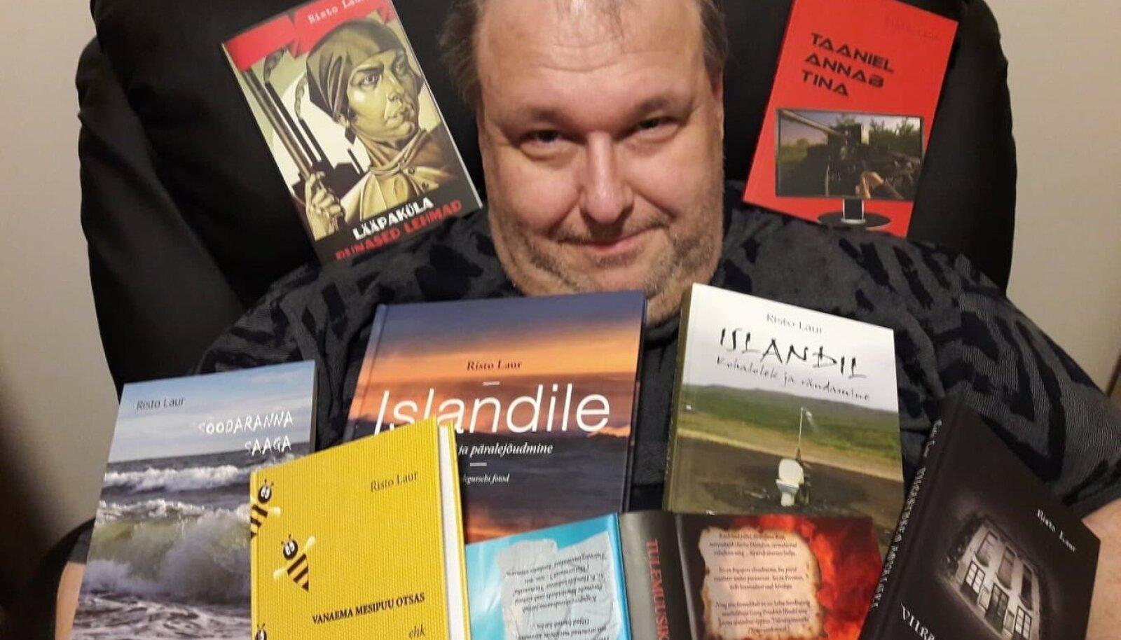 Risto Laur on kirjutanud hulga raamatuid, kus ohtralt naljakaid situatsioone just eestlase pilgu läbi.