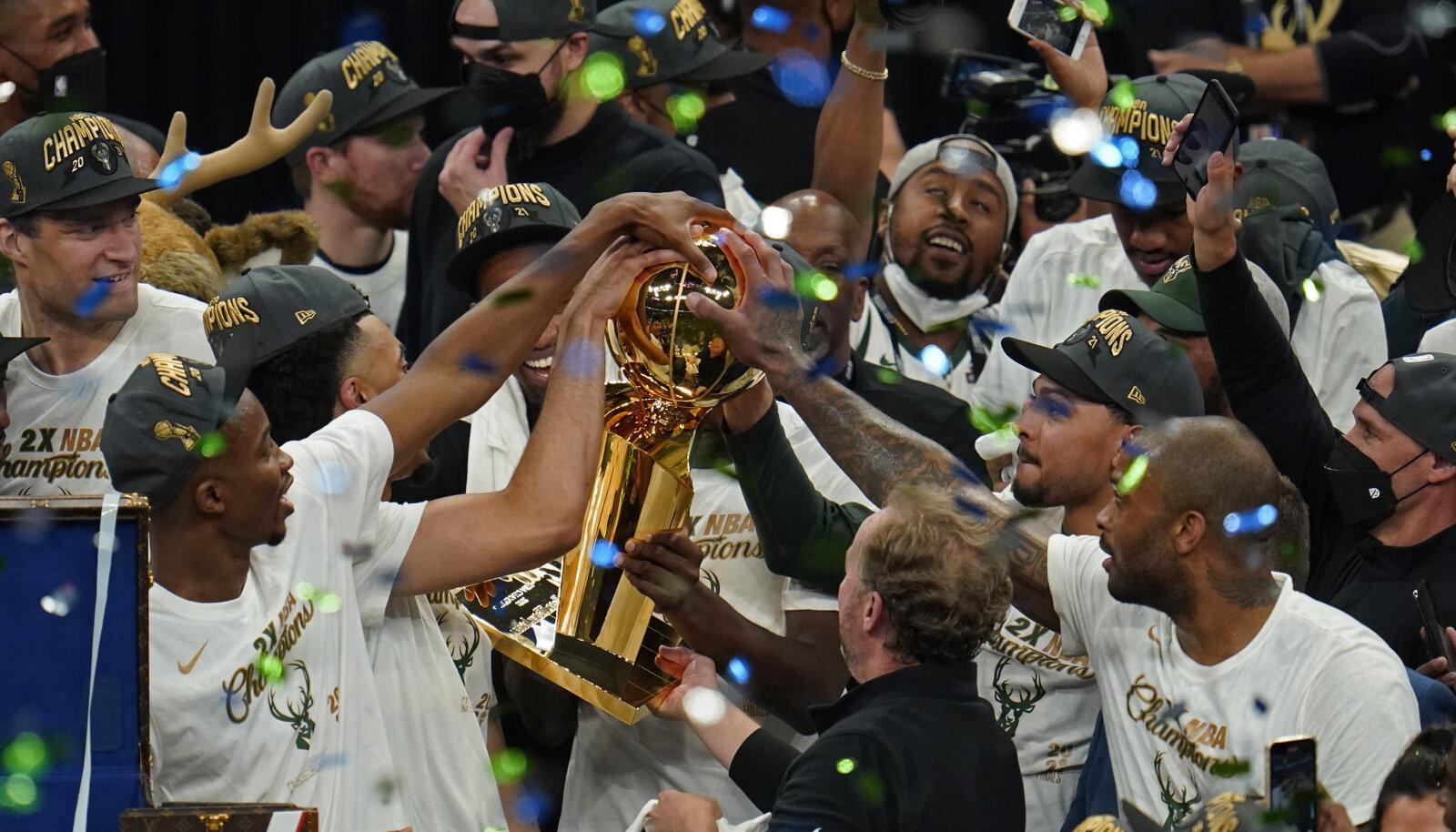 Milwaukee Bucks võitis NBA meistritiitli