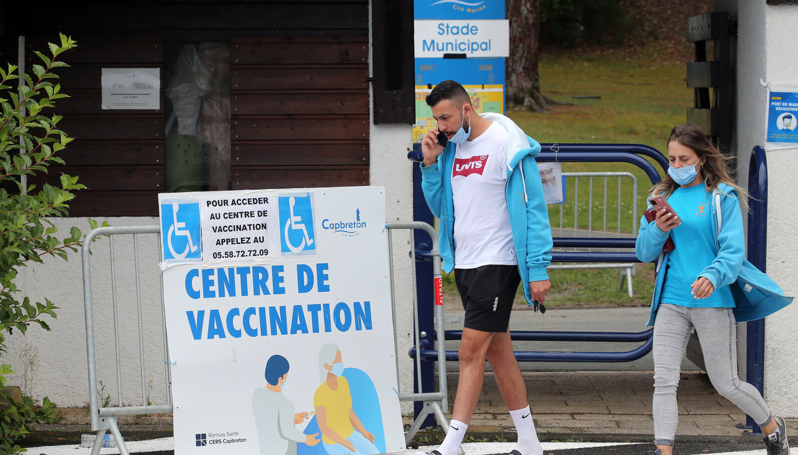 Vaktsineerimiskesksus Prantsusmaa edelaosas Capbretonis.
