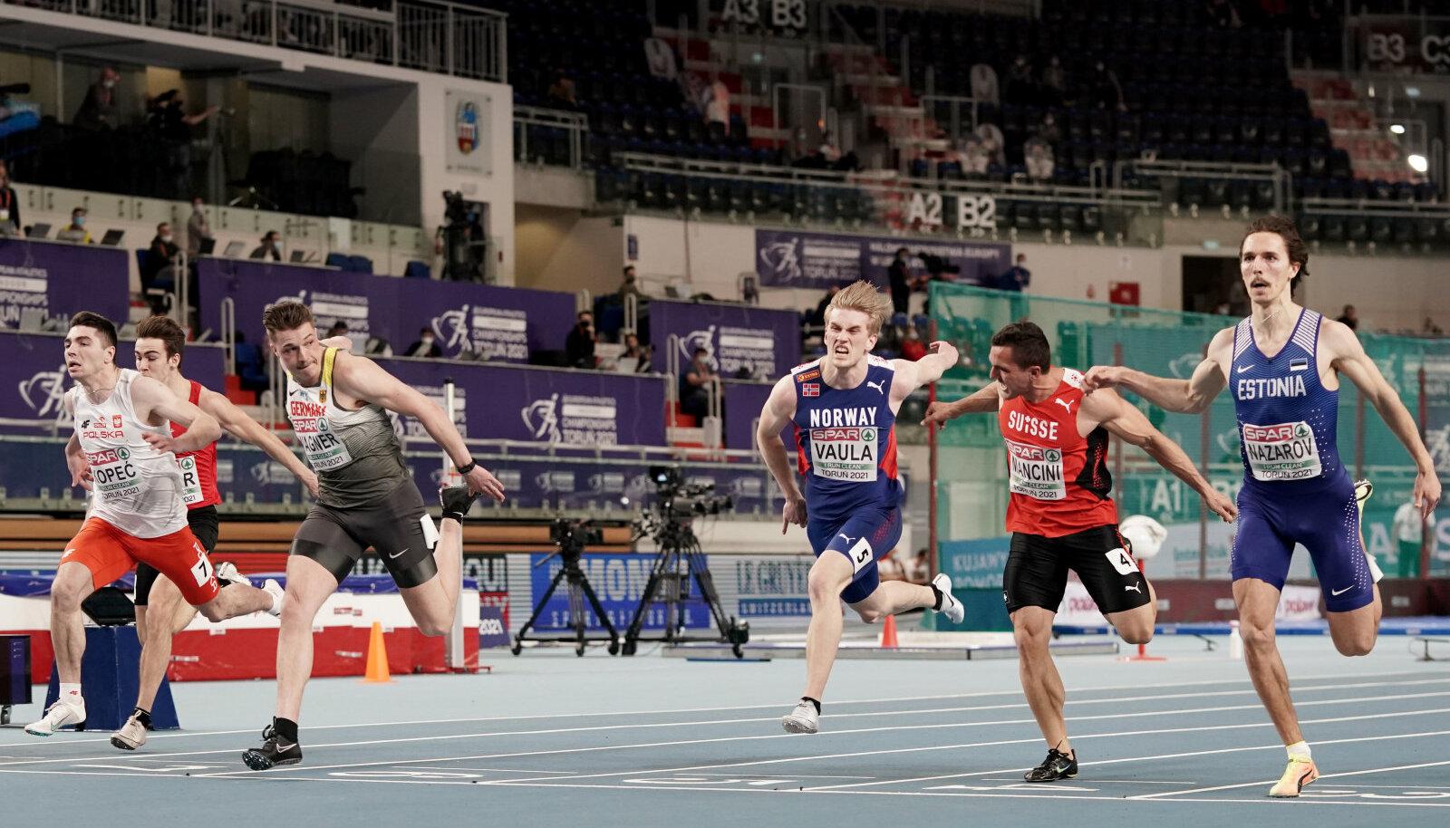 Karl Erik Nazarov (paremal) võitis oma eeljooksu.