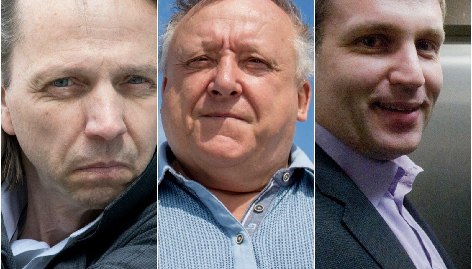 Olav Miil (vasakult), Vjatšeslav Leedo ja Richard Tomingas.