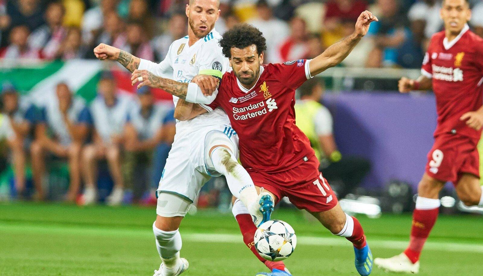 Sergio Ramose võte, mille tõttu pidi Mohamed Salah 2018. aasta Meistrite liiga finaalis väljakult lahkuma.