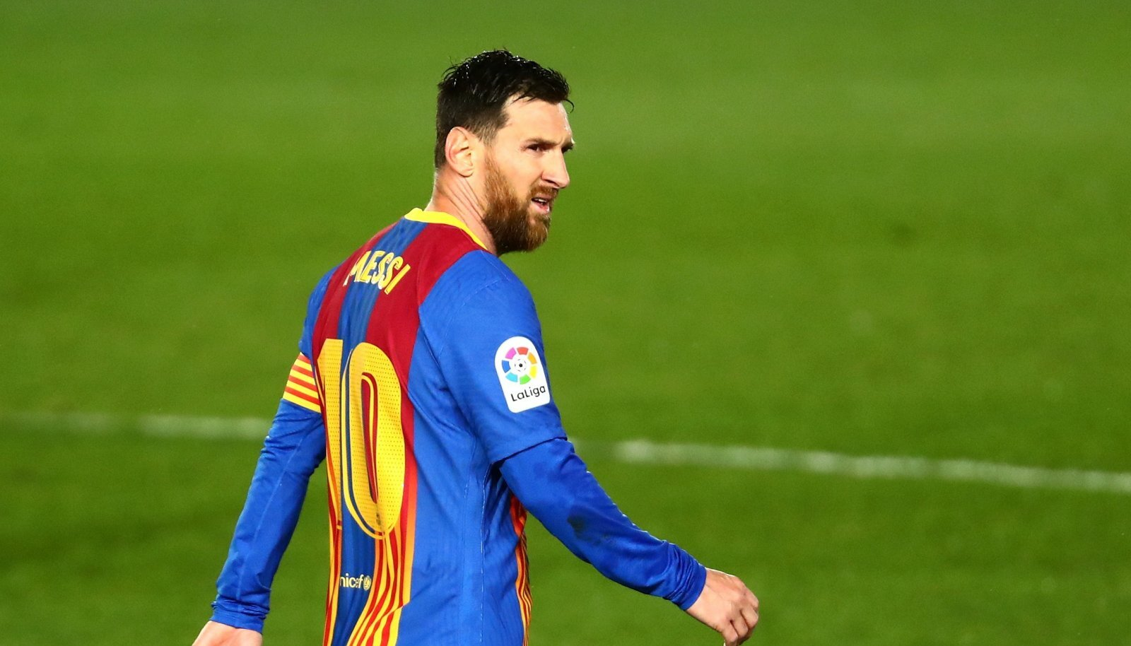 Lionel Messi FC Barcelona särgis.