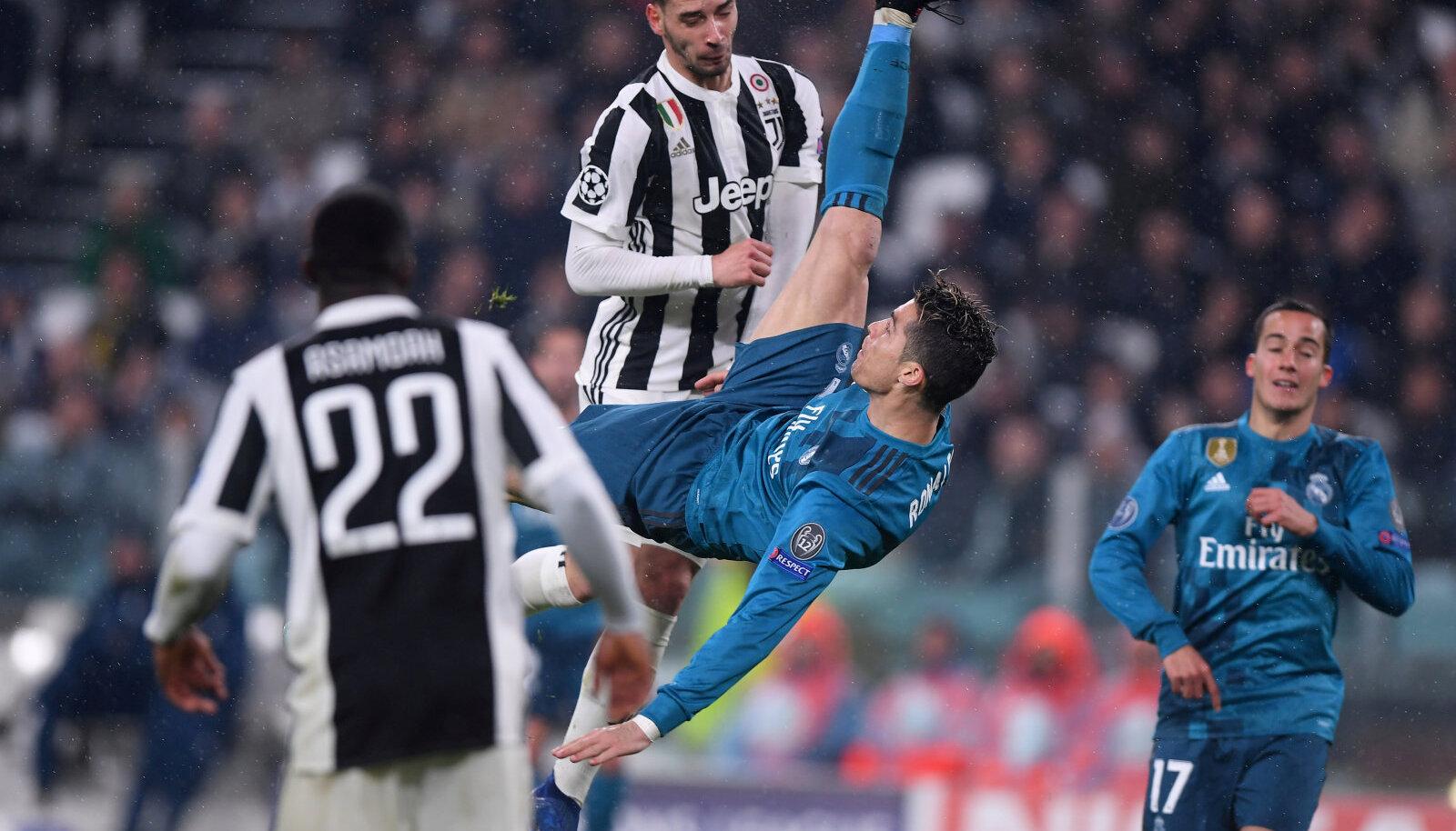Cristiano Ronaldo käärlöök Meistrite Liiga veerandfinaalis Juventuse vastu