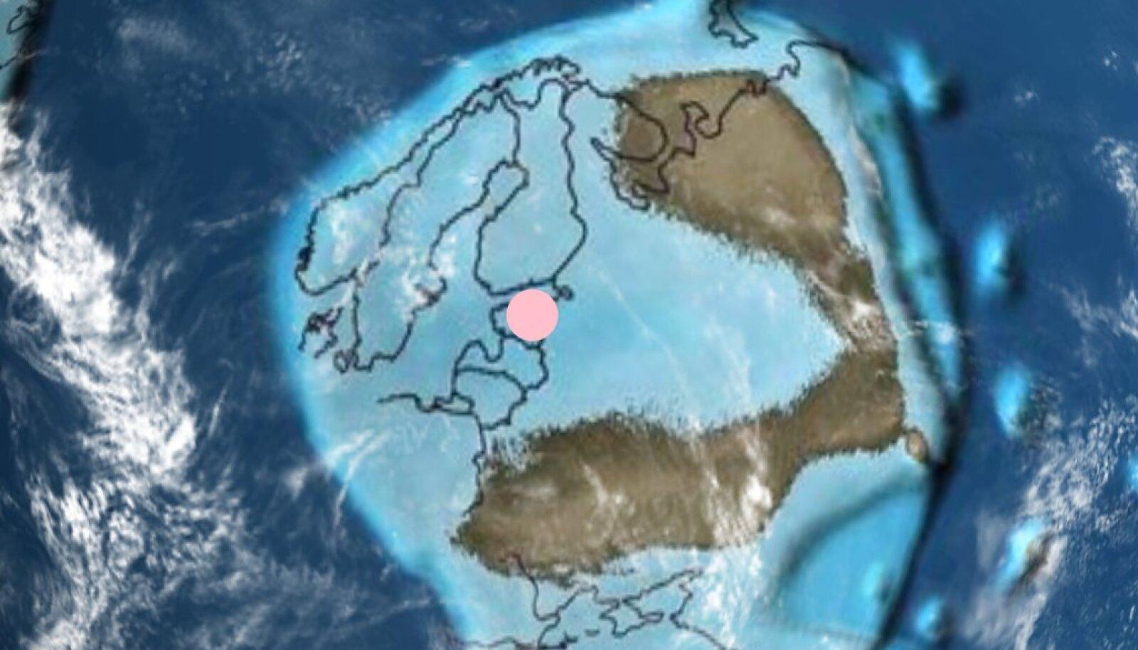 Rakendus tunnistab näiteks, et umbes 470 miljonit aastat tagasi, kui välja oli kujunemas hulkrakne elu, olid nii Eesti kui ka otsingusse pandud Mustvee linn alles vee all.