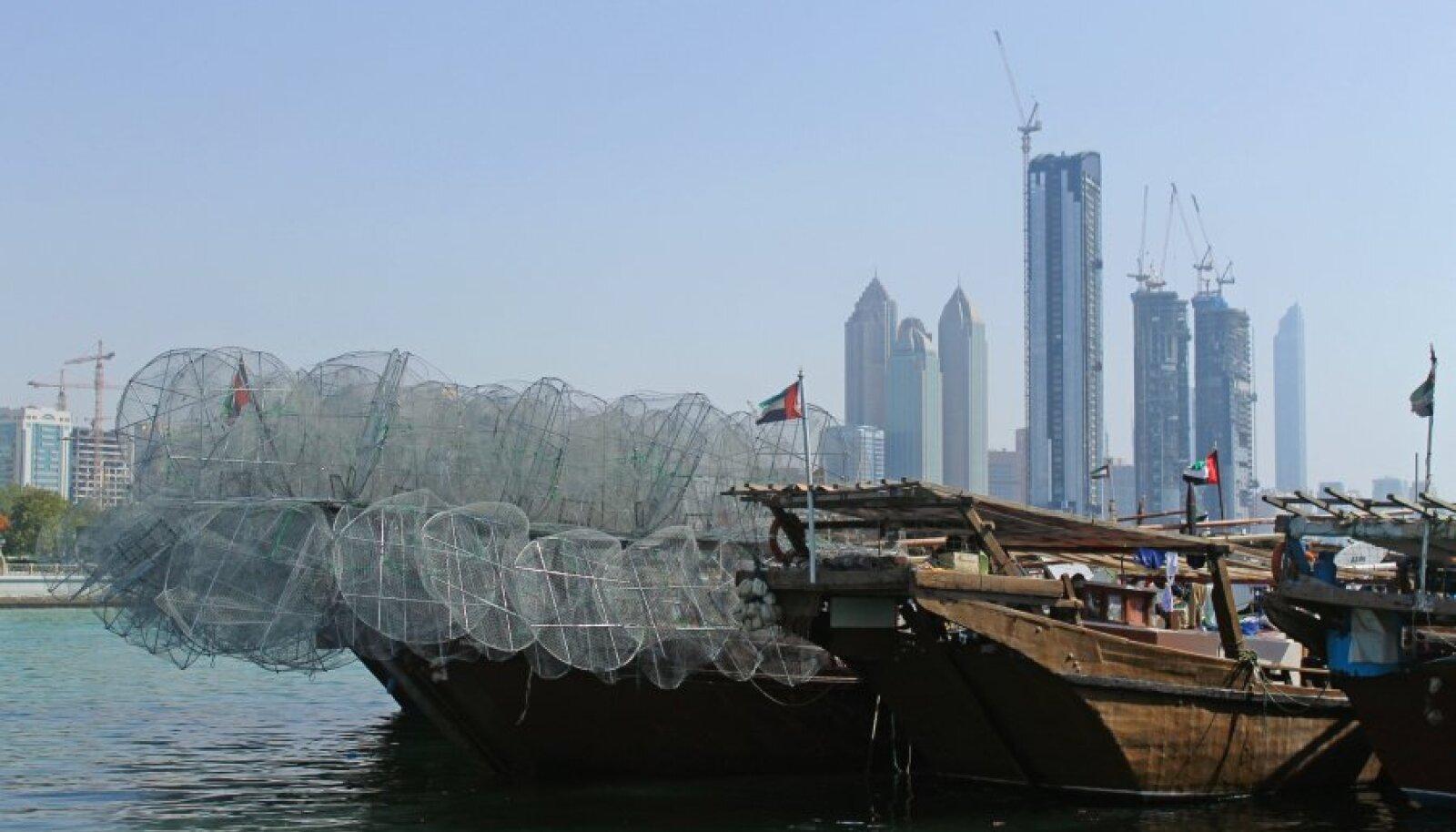 Abu Dhabi sadama vanad kalalaevad.
