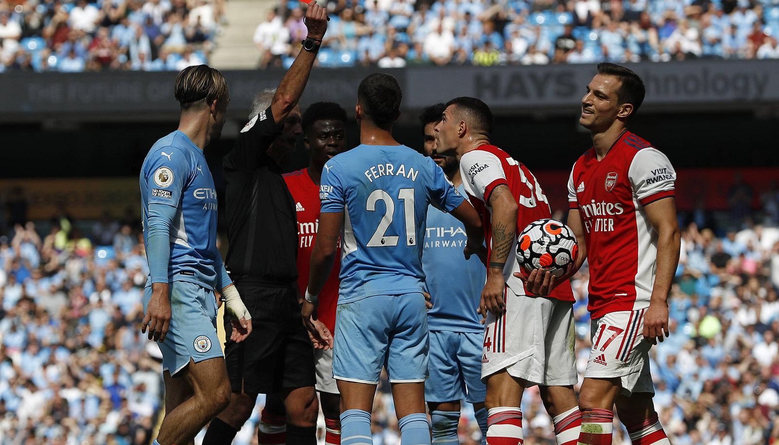 Manchester City kõmmutas Arsenalile viis väravat.