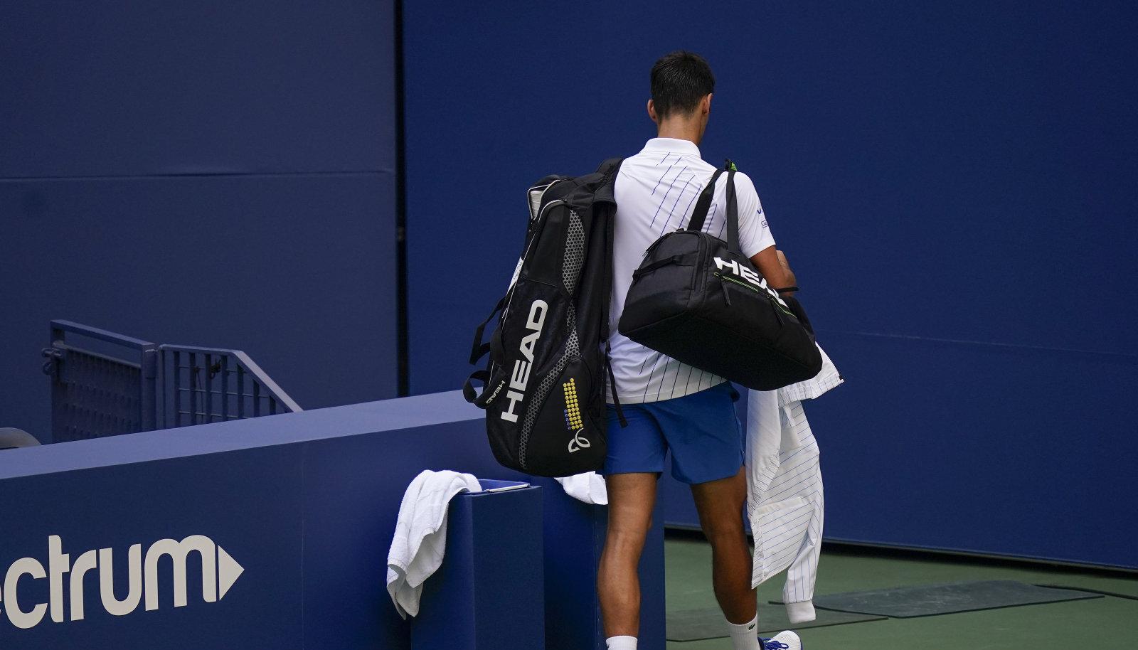 Turniirilt eemaldatud Novak Djokovic.