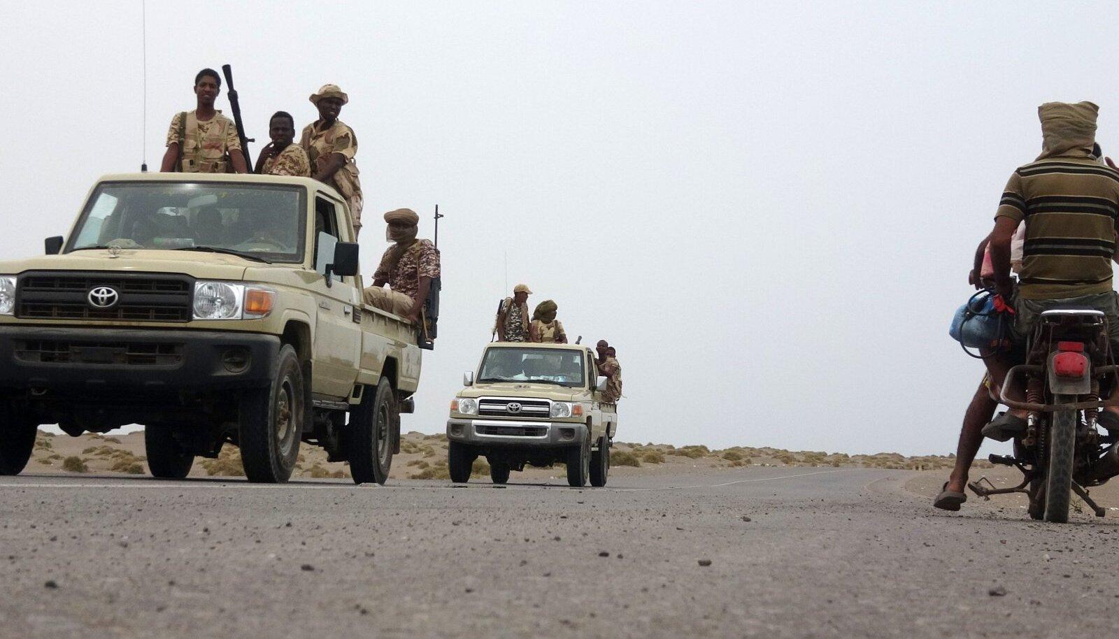 Sudaani võitlejad Jeemenis