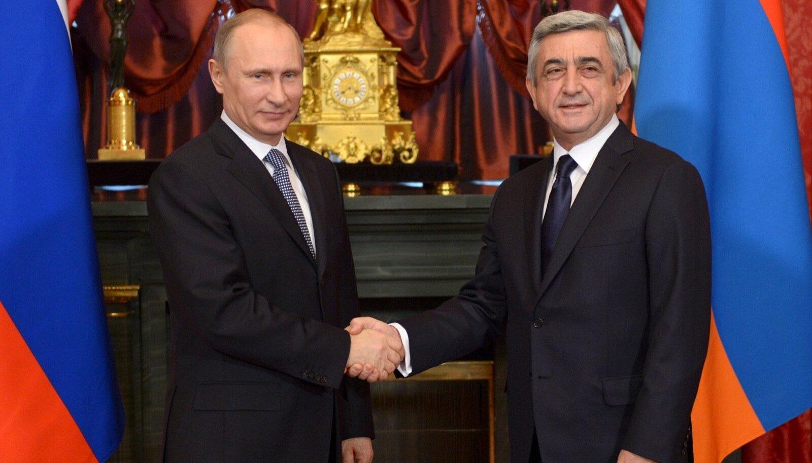 Putin ja Sargsjan 2013. aastal