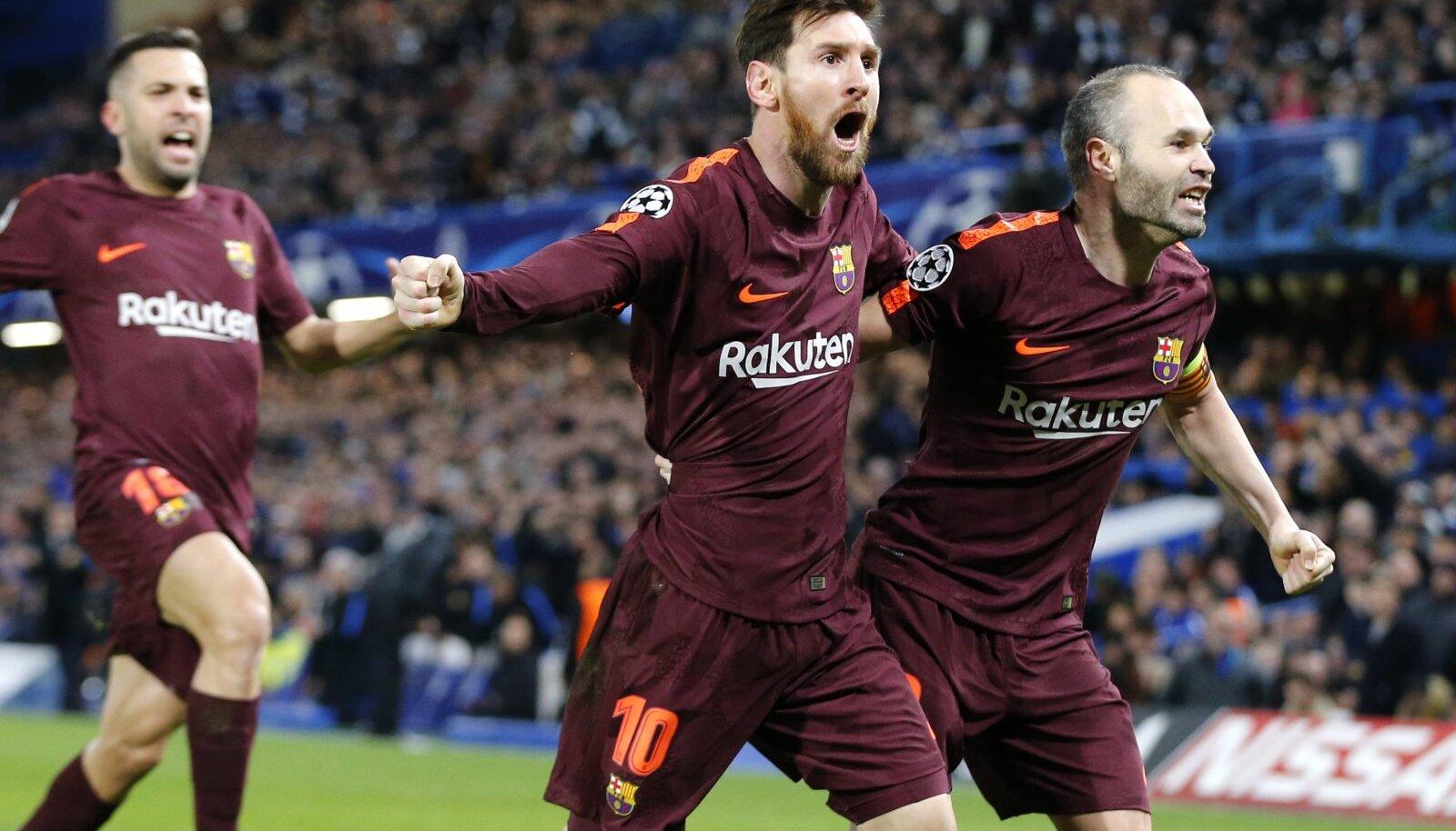 Messi lõi elu esimese värava Chelsea vastu