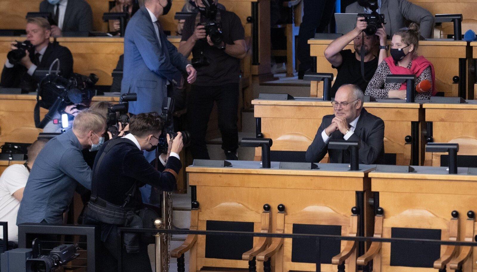 Presidendivalimiste teine voor riigikogus 31. augustil. Alar Karis sai 72 häält.