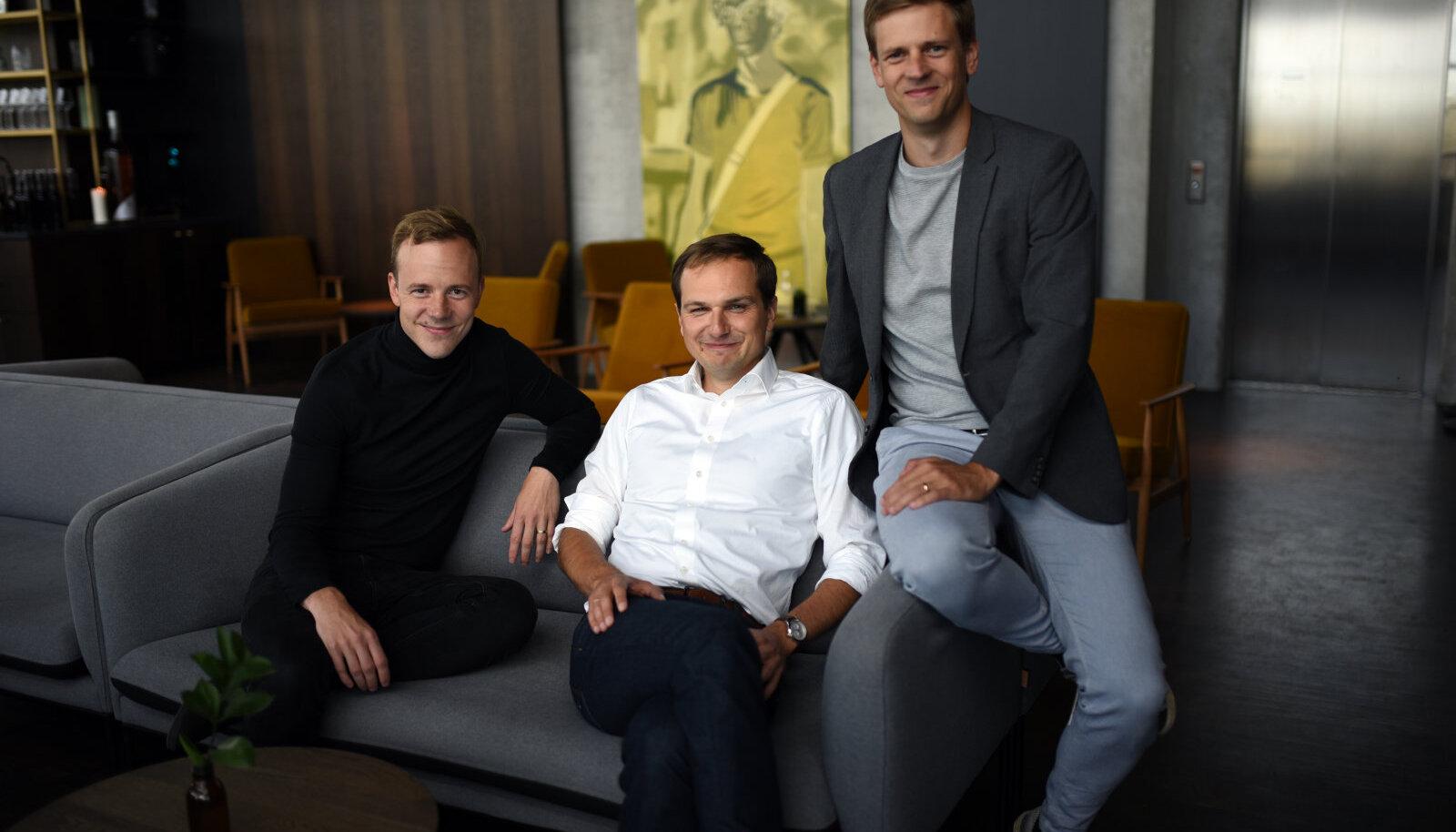 Vasakult: Kristjan Korjus, Martin Rand, Kaspar Korjus