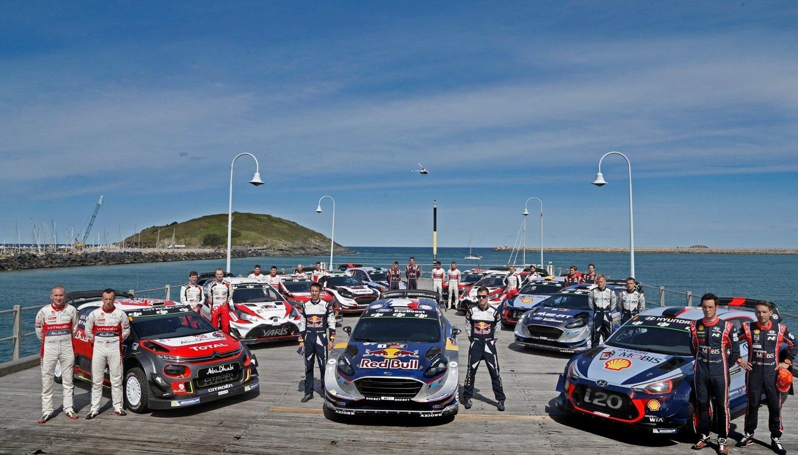 WRC sõitjad Austraalia rallil