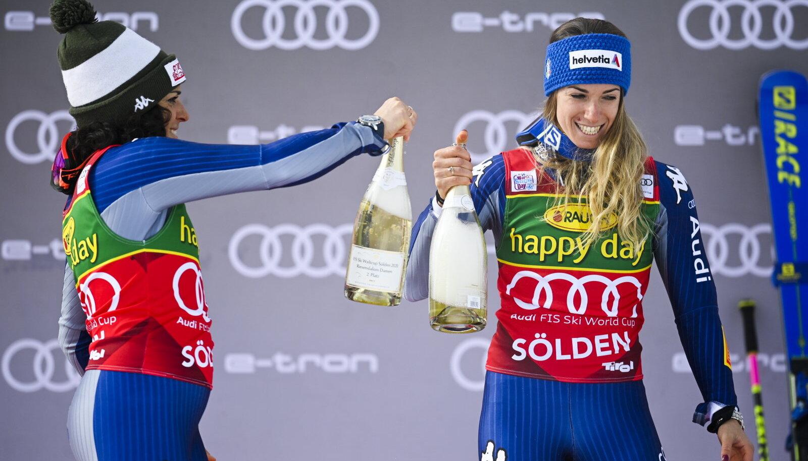 Federica Brignone ja Marta Bassino
