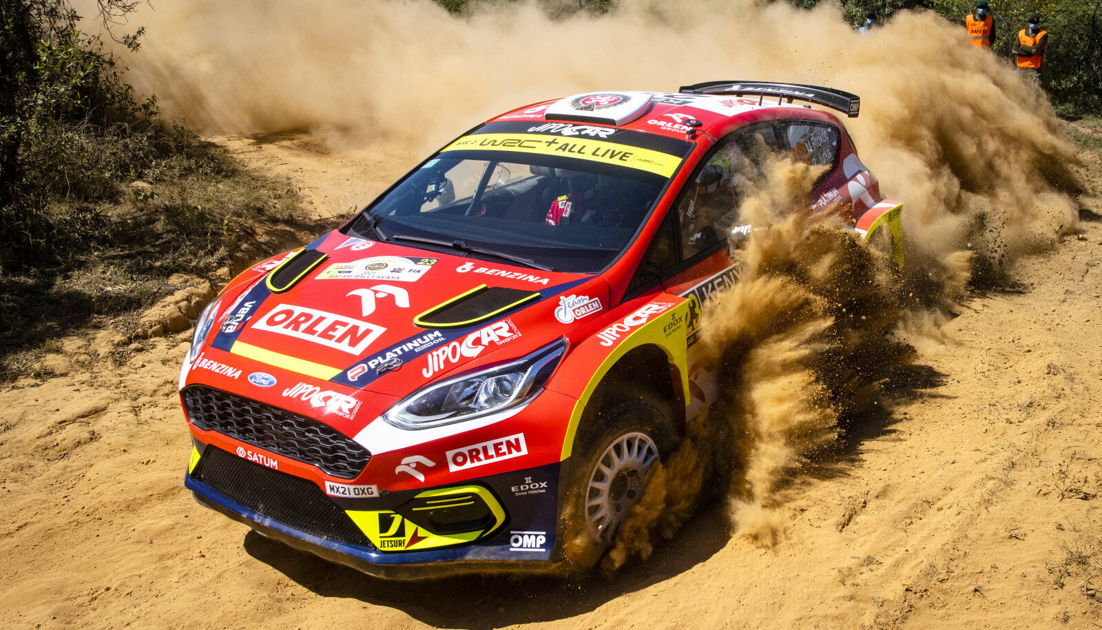 Martin Prokop (Ford Fiesta Rally2) Keenia rallil.