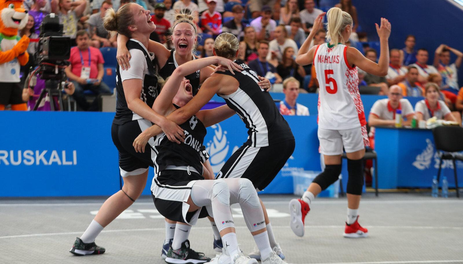 Эстонская баскетбольная команда - призер Европейских игр