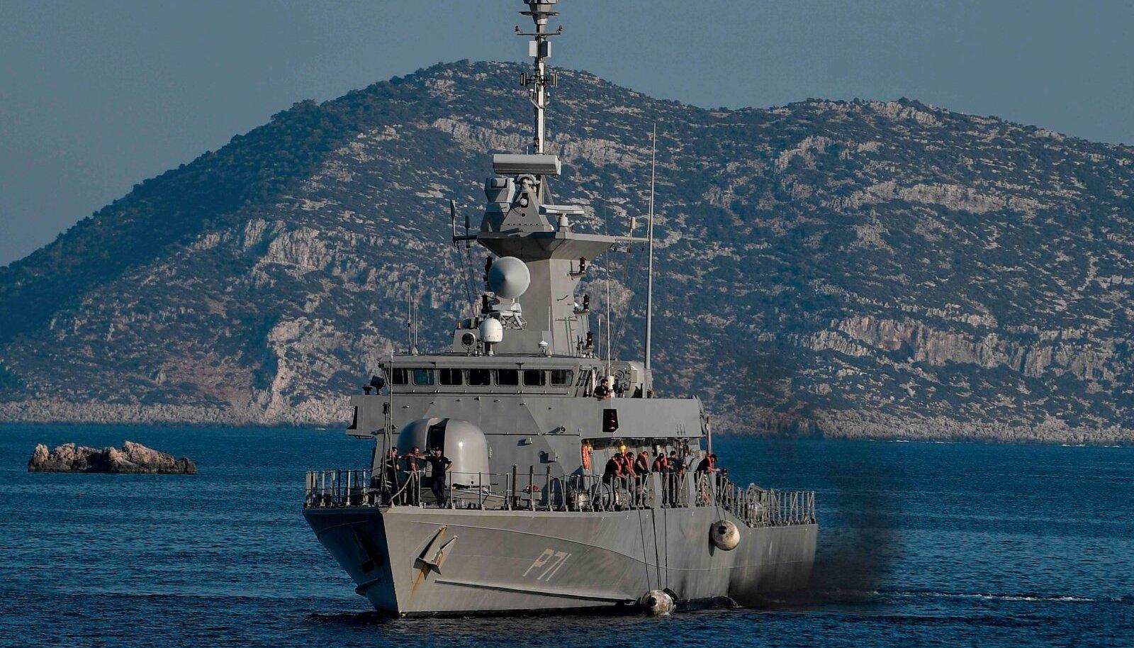 Kreeka patrull-laev augusti lõpus Megísti ehk Kastellorizo saare lähistel, Türgi rannikust kahe kilomeetri kaugusel