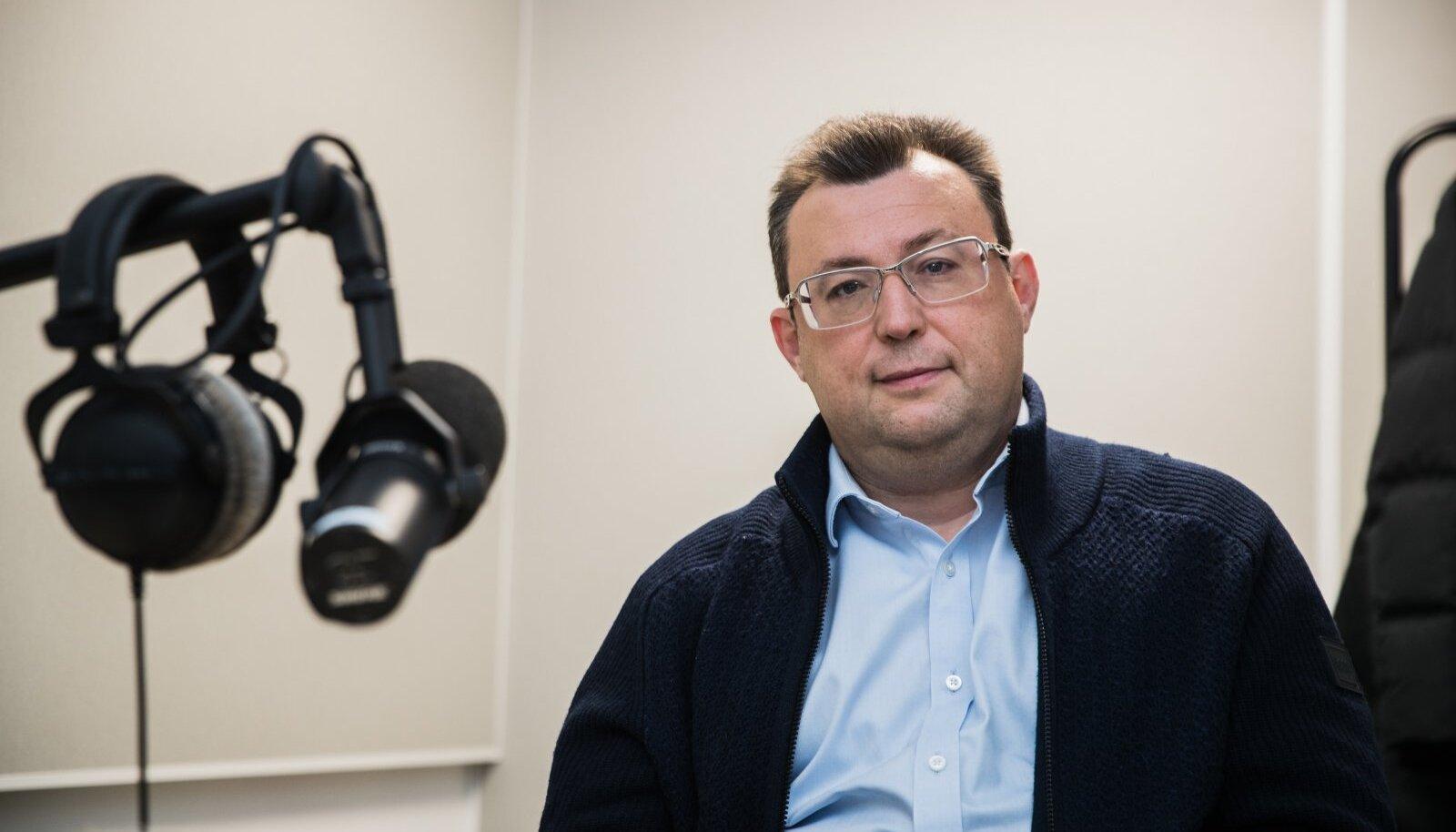 Александр Цихилов в студии Delfi