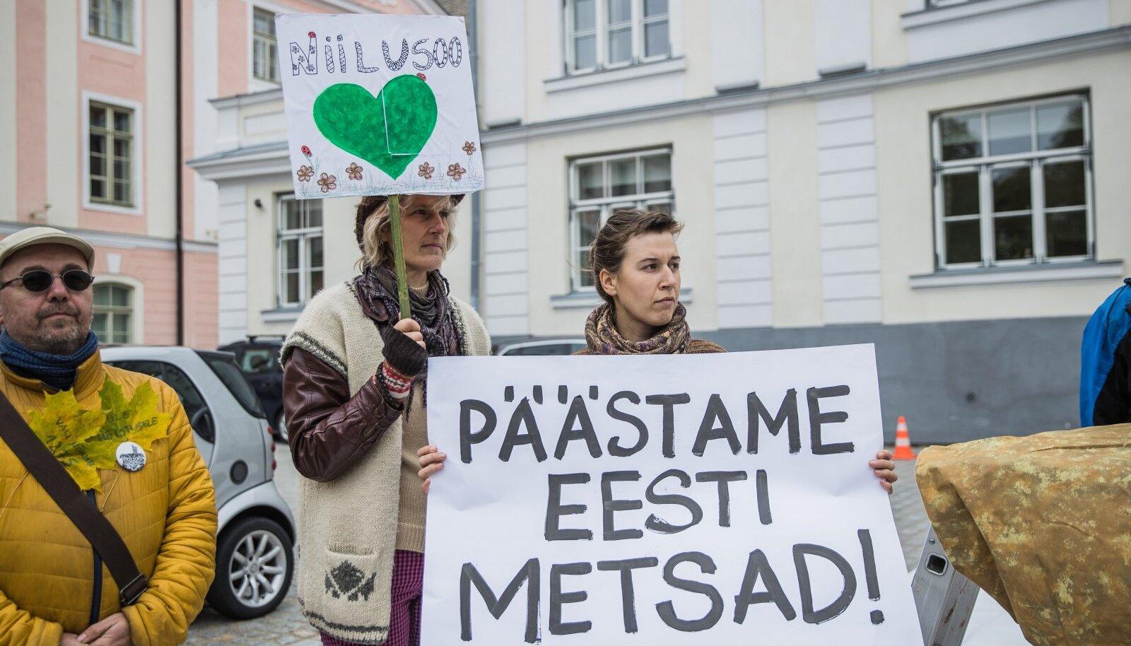 """Protest """"Ei meie metsade põletamisele elektrijaamades"""""""
