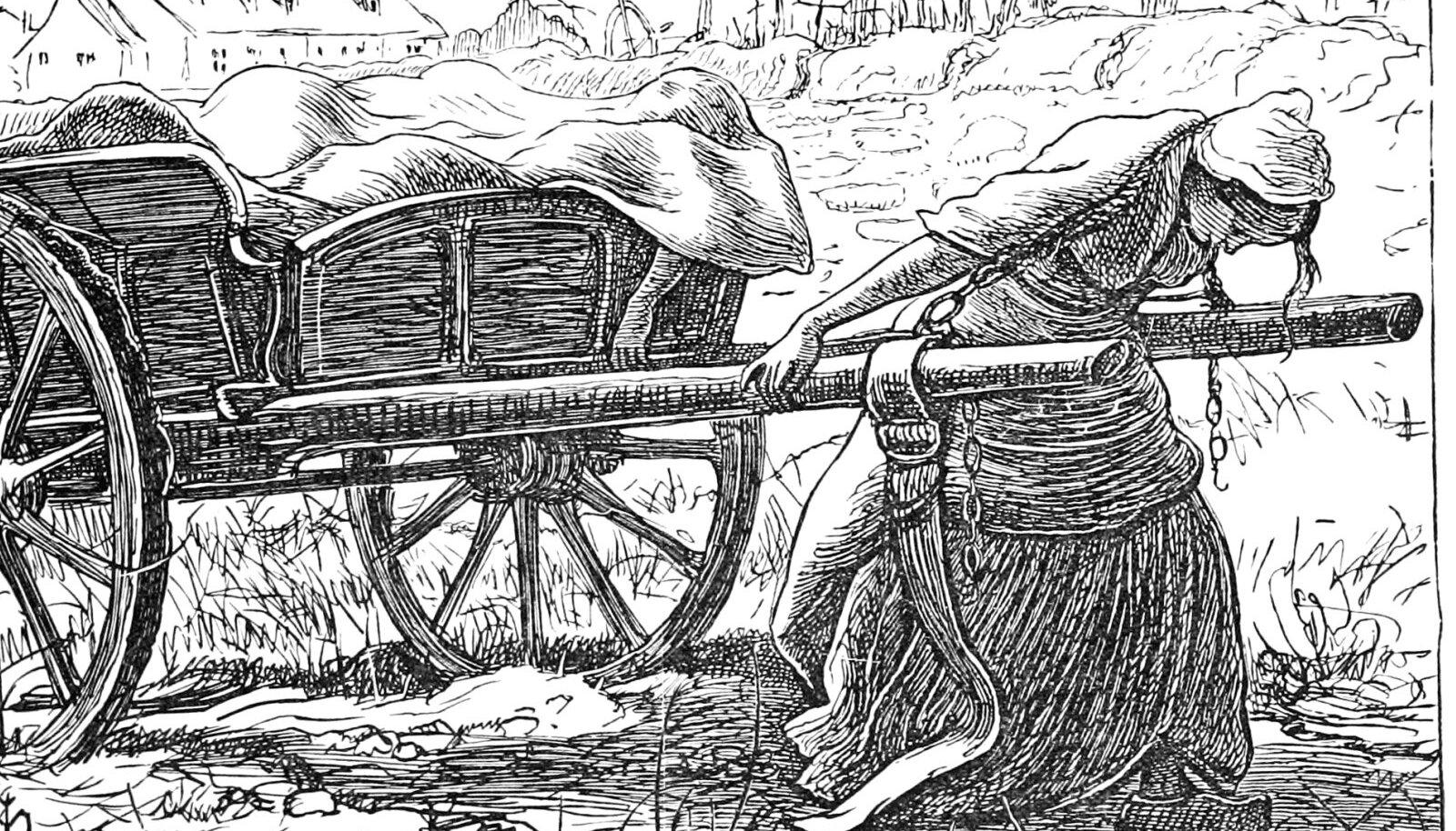 Illustratiivse tähendusega pilt katkuaja raskustest (pilt: Wikimedia Commons /  John Everett Millais' joonistus aastast 1861)